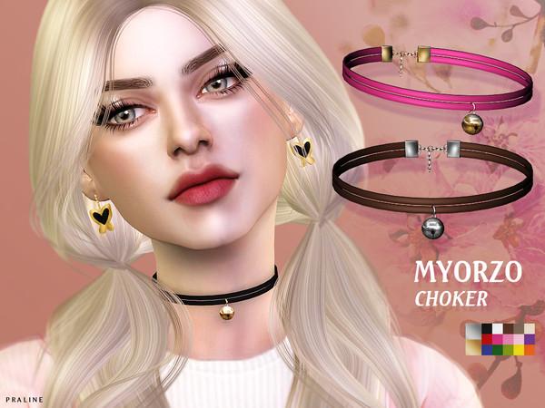 Sims 4 Myorzo Choker by Pralinesims at TSR