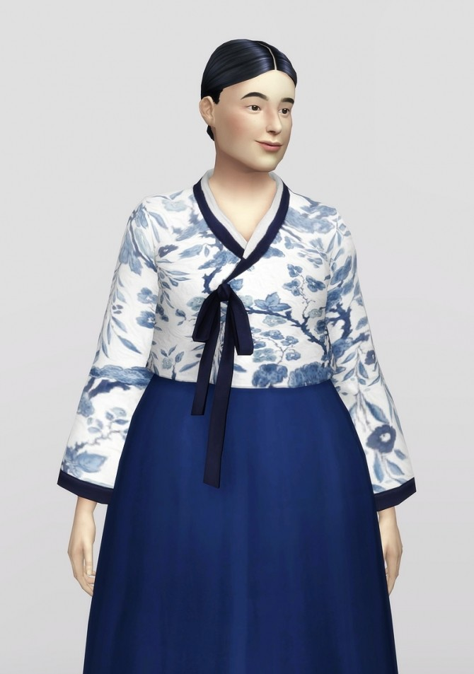 Sims 4 Trendy Hanbok 2 (30 colors) at Rusty Nail