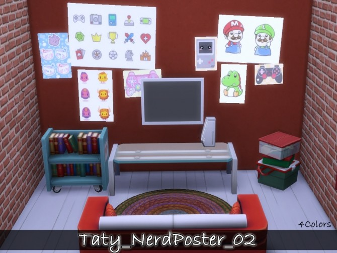 Nerd posters 02 at Taty – Eámanë Palantír image 1664 670x503 Sims 4 Updates