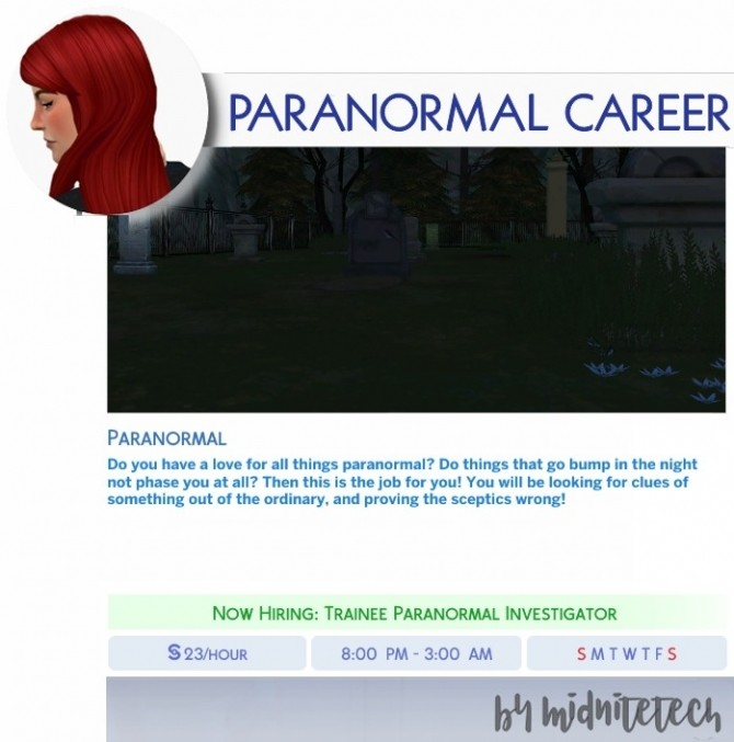 PARANORMAL CAREER at MIDNITETECH'S SIMBLR image 1673 670x677 Sims 4 Updates