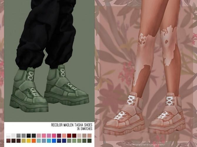 Sims 4 Recolor Madlen Tasha Shoes at Helga Tisha