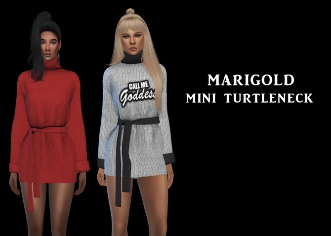Sims 4 Marigold Turtleneck recolors at Leo Sims