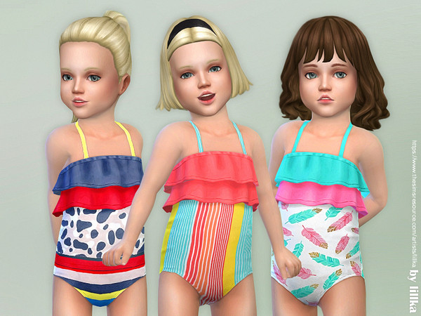 Sims 4 Toddler Swimsuit P06 by lillka at TSR
