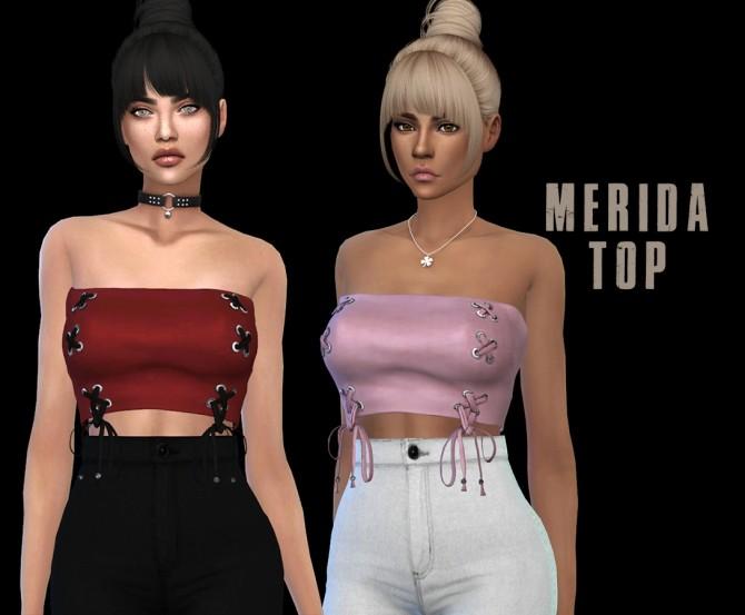 Sims 4 Merida top at Leo Sims