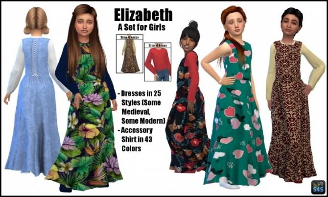 Elizabeth dress and acc shirt by SamanthaGump at Sims 4 Nexus image 179 670x402 Sims 4 Updates
