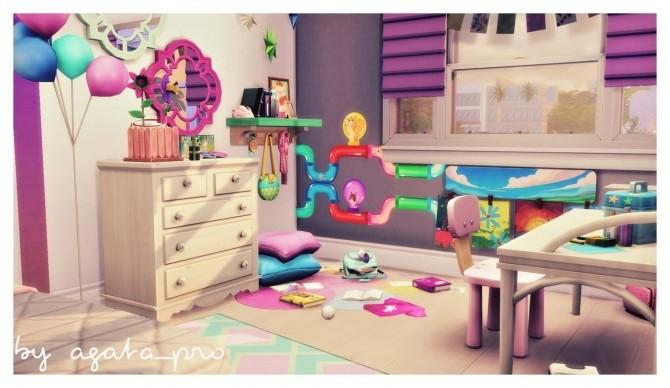 Sims 4 Rainbow Land kidsroom at Agathea k