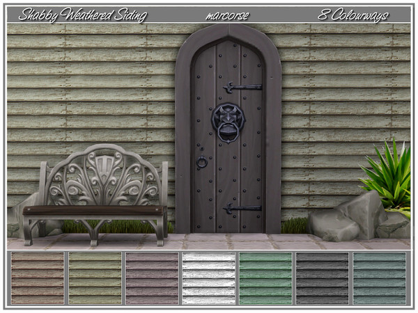 Shabby Weathered Siding by marcorse at TSR image 1844 Sims 4 Updates