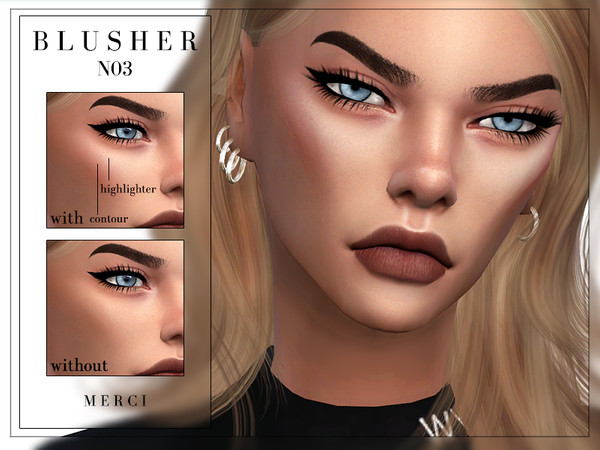 Sims 4 Blusher N03 by Merci at TSR