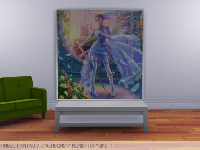 Sims 4 Angel paintings set at Midnightskysims