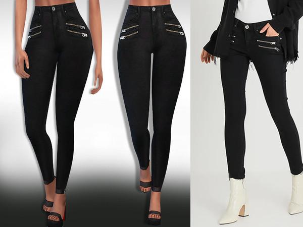 Sims 4 Mos Mosh Zip Jeans by Saliwa at TSR
