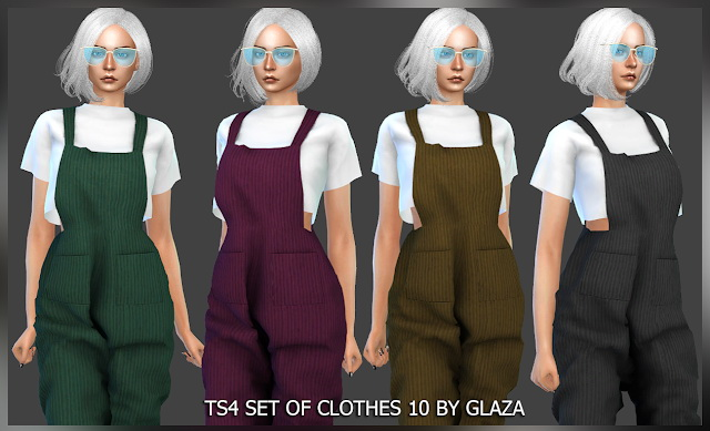 Sims 4 SET OF CLOTHES 10 (P) at All by Glaza