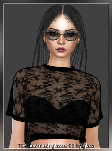 Sims 4 Sunglasses 02 at All by Glaza