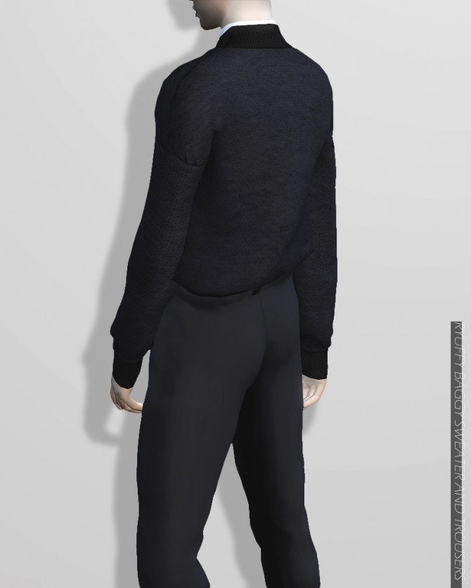 Sims 4 Baggy Sweater and Trousers at RYUFFY