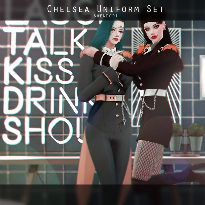 Chelsea Uniform Set at SHENDORI SIMS image 1952 670x670 Sims 4 Updates