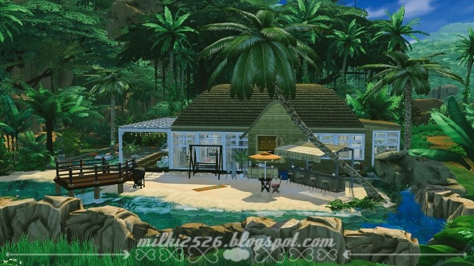 Jungle Bungalow for two at Milki2526 image 1981 670x377 Sims 4 Updates