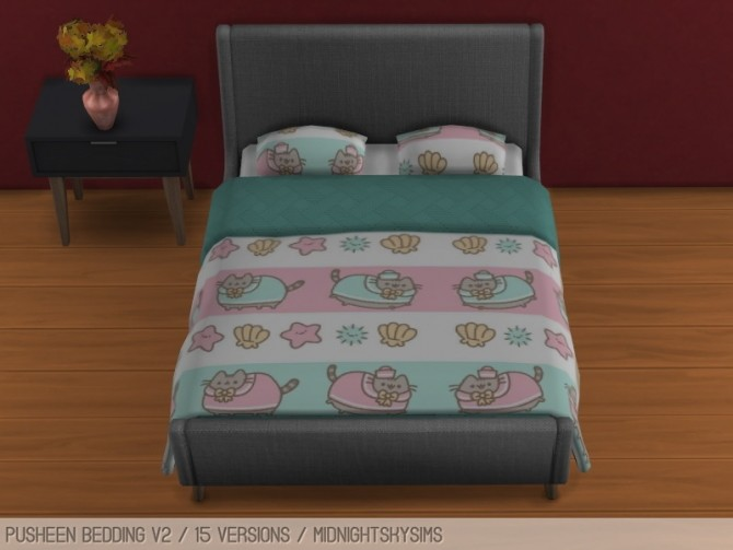 Pusheen Bedding Set V2 At Midnightskysims 187 Sims 4 Updates