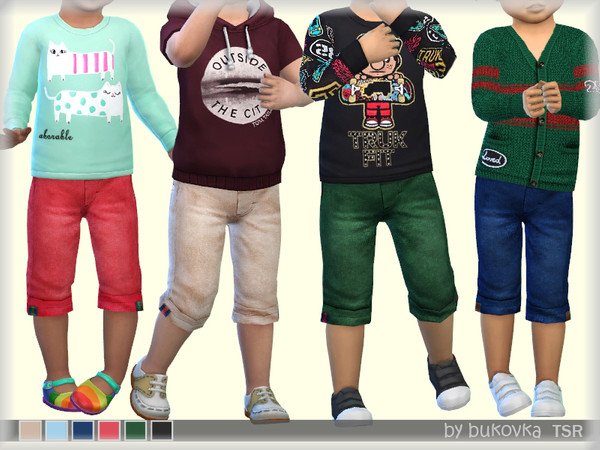 Sims 4 Short Pants by bukovka at TSR