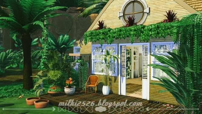 Jungle Bungalow for two at Milki2526 image 1991 670x377 Sims 4 Updates