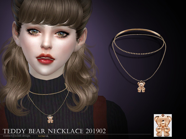 Sims 4 Necklace 201902 by S Club LL at TSR