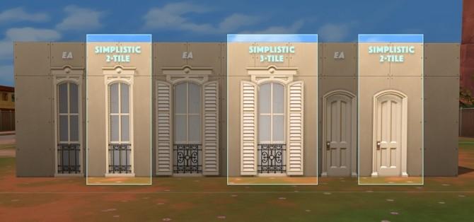 Sims 4 Strangerville Centered Windows Set at SimPlistic