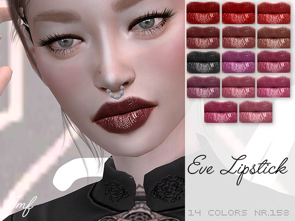 Sims 4 IMF Eve Lipstick N.158 by IzzieMcFire at TSR