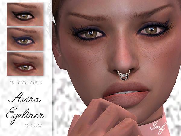 Sims 4 IMF Avira Eyeliner N.28 by IzzieMcFire at TSR