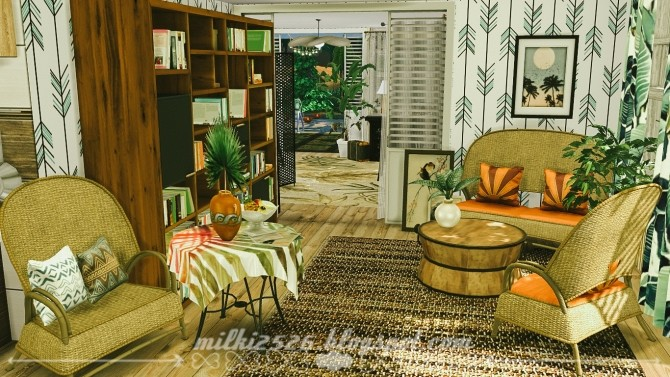 Jungle Bungalow for two at Milki2526 image 2041 670x377 Sims 4 Updates