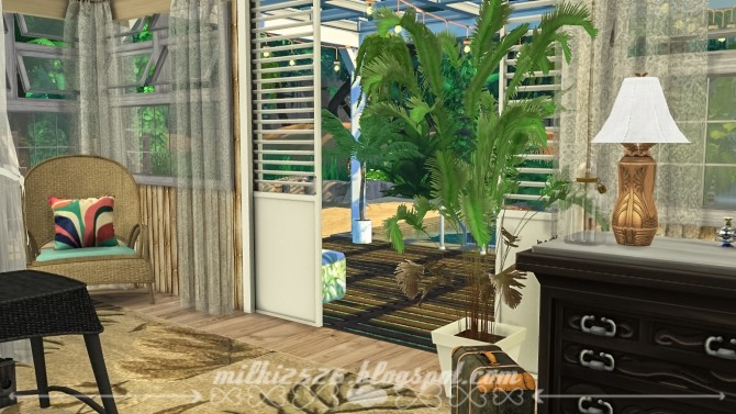 Jungle Bungalow for two at Milki2526 image 206 670x377 Sims 4 Updates