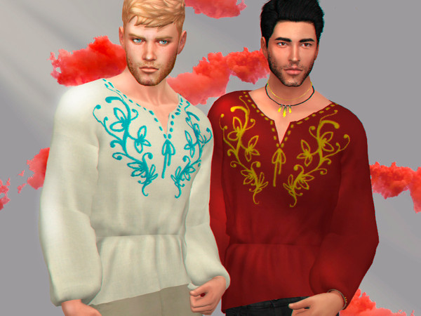 Spring gaze male shirt by WistfulCastle at TSR image 2106 Sims 4 Updates