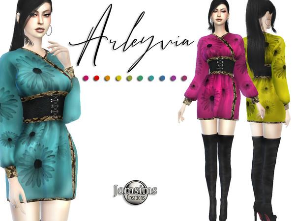 Sims 4 Arleyvia dress by jomsims at TSR