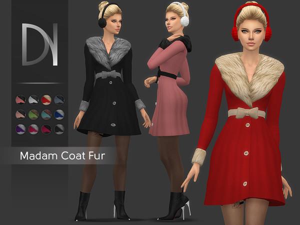 Sims 4 Madam Coat Fur HQ by DarkNighTt at TSR