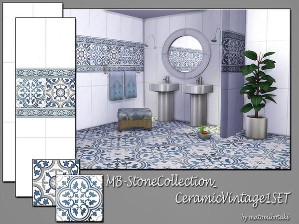 Sims 4 MB Stone Collection Ceramic Vintage 1 SET by matomibotaki at TSR