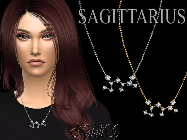 Sims 4 Sagittarius zodiac necklace by NataliS at TSR
