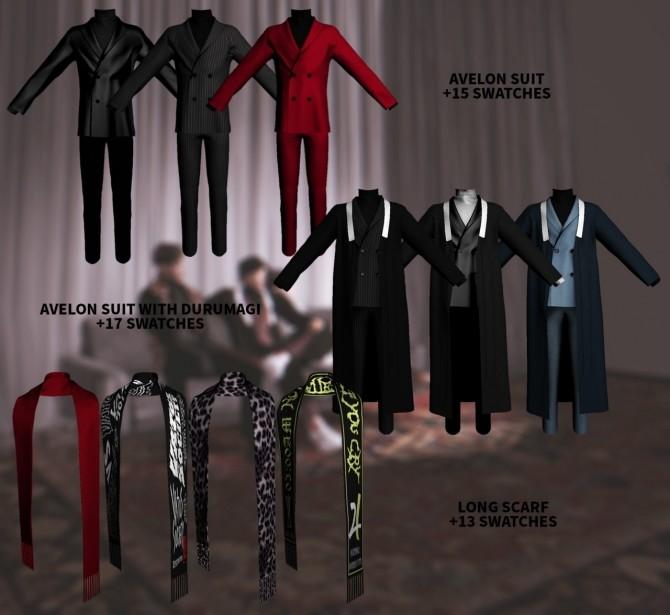 Sims 4 AVELON Suit set at Kiro