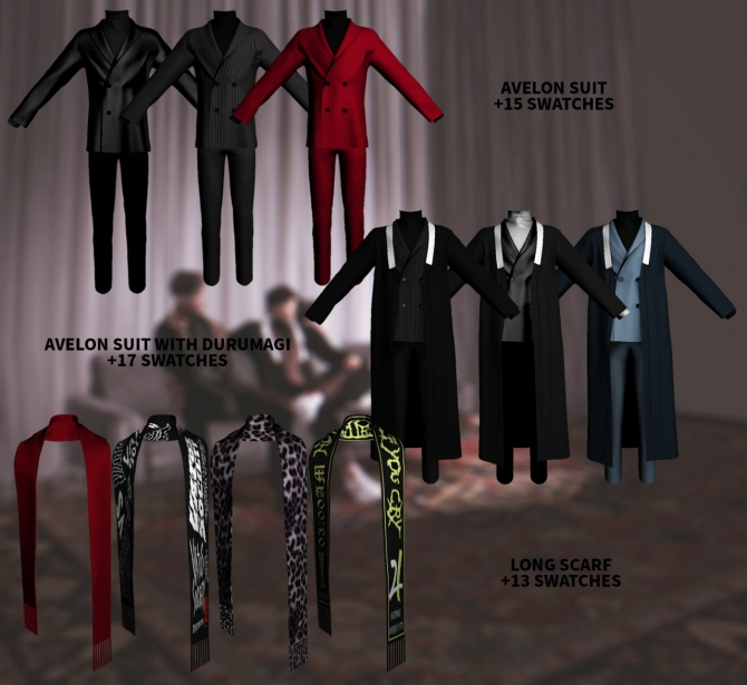 Avelon Suit Set At Kiro 187 Sims 4 Updates