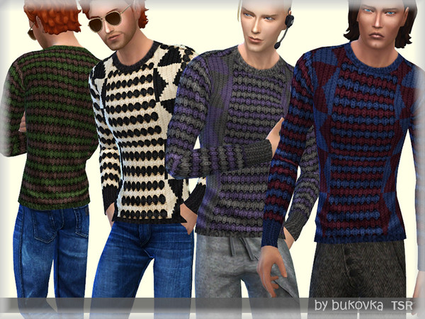 Sims 4 Knitted Sweater by bukovka at TSR