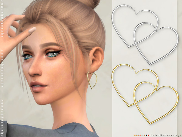 Valentine Earrings by Christopher067 at TSR image 2217 Sims 4 Updates