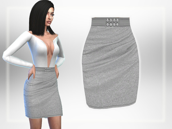 Sims 4 Grey Skirt by Puresim at TSR