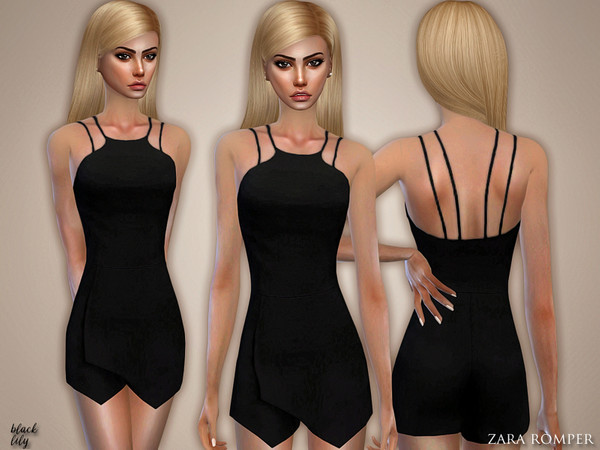 Sims 4 Romper by Black Lily at TSR