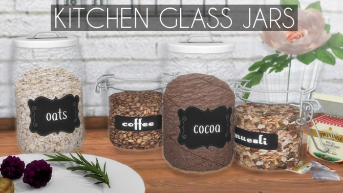 Kitchen Glass Jars at Descargas Sims » Sims 4 Updates
