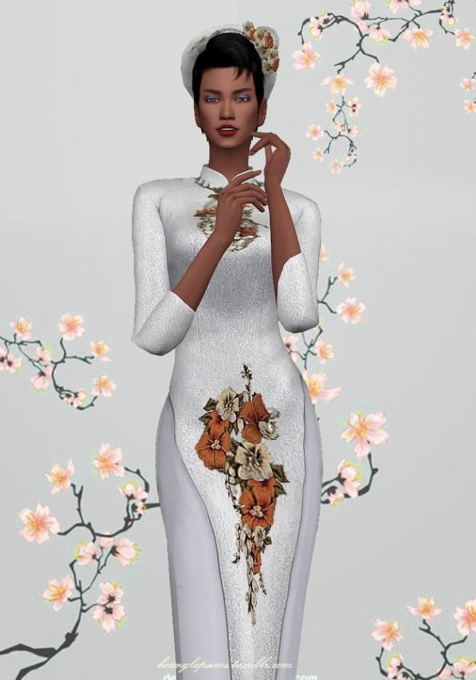Vietnamese traditional clothes (Ao Dai) at HoangLap's Sims image 2291 670x957 Sims 4 Updates