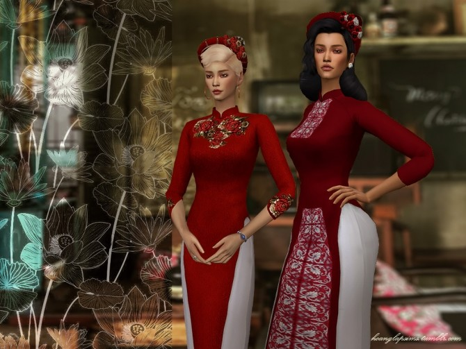 Vietnamese traditional clothes (Ao Dai) at HoangLap's Sims image 2321 670x503 Sims 4 Updates