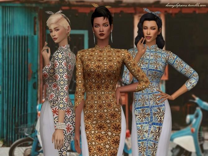 Vietnamese traditional clothes (Ao Dai) at HoangLap's Sims image 2331 670x503 Sims 4 Updates