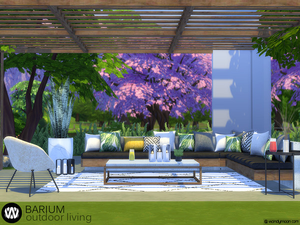 Barium Outdoor Living by wondymoon at TSR image 237 Sims 4 Updates