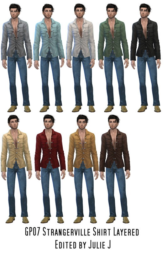 Sims 4 GP07 Shirt Layered Edited at Julietoon – Julie J