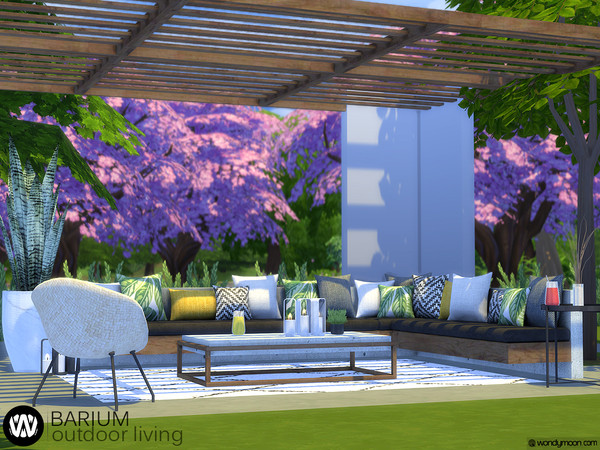 Barium Outdoor Living by wondymoon at TSR image 2412 Sims 4 Updates