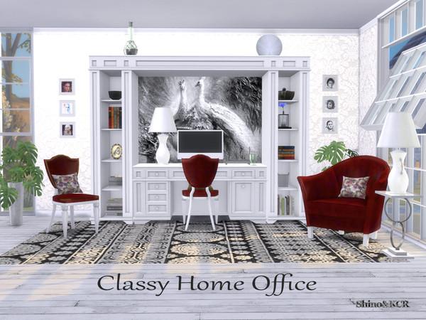 Sims 4 Homeoffice Classy by ShinoKCR at TSR