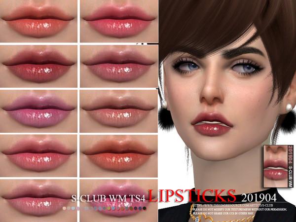 Sims 4 Lipstick 201904 by S Club WM at TSR