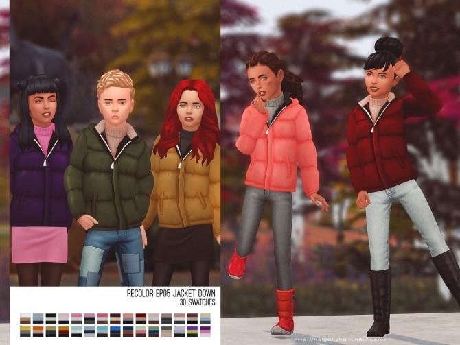 Recolor EP05 Jacket Down child at Helga Tisha image 2432 670x503 Sims 4 Updates