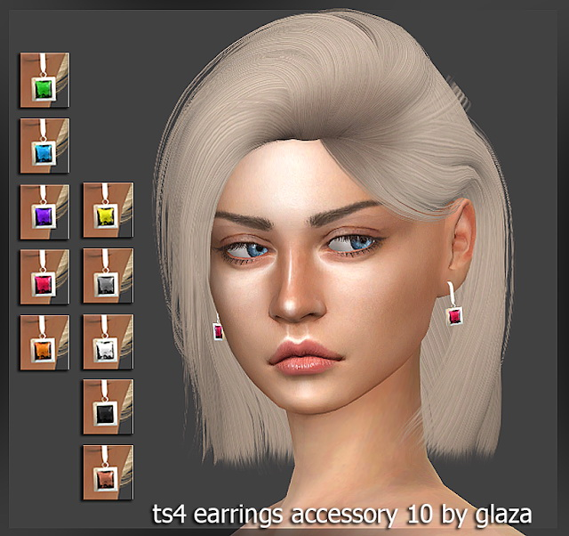Earrings 10 at All by Glaza image 2441 Sims 4 Updates